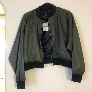 NWT Military Green Bomber Jacket